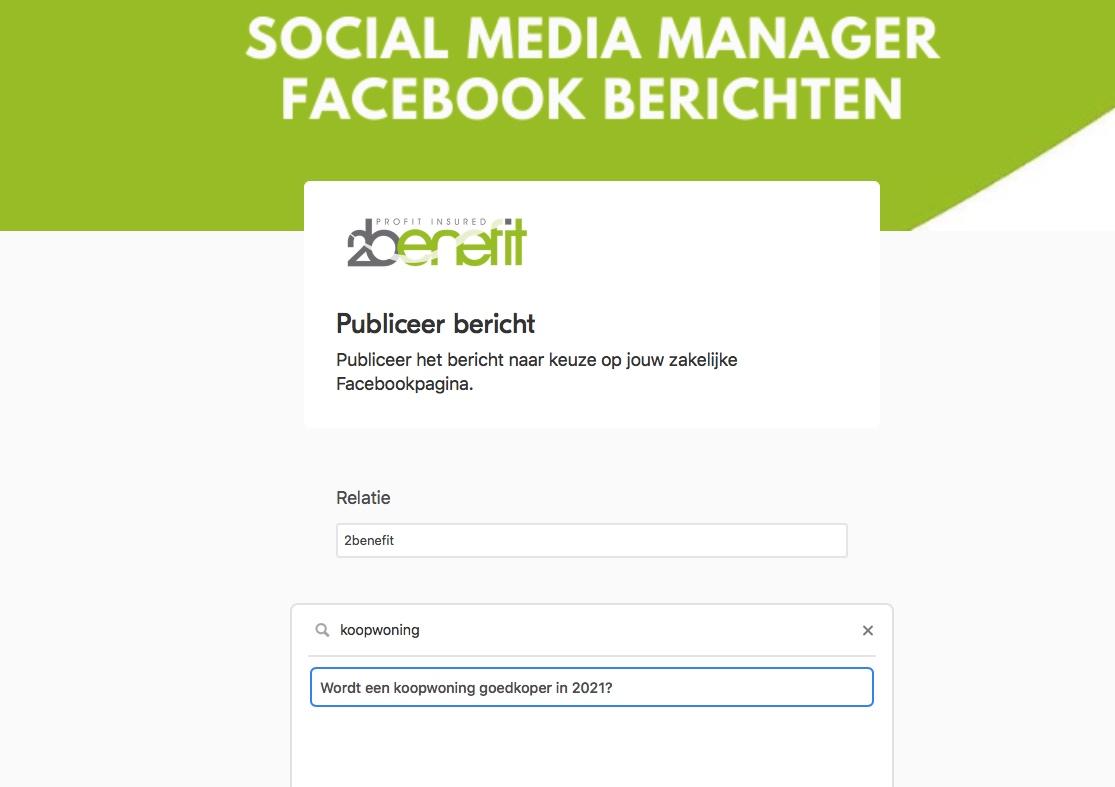 Social media financieel adviseur